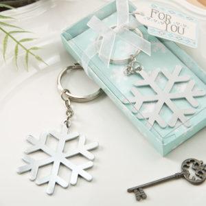 Stunning Snow Flake Design Silver Metal Key ChainStunning Snow Flake Design Silver Metal Key Chain