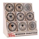 Assortment of 9 Dad's BBQ Wooden CoastersAssortment of 9 Dad's BBQ Wooden Coasters