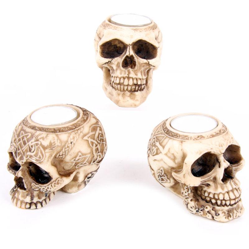 Celtic Skull Head Tealight Holder
