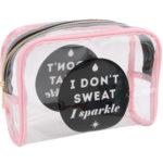 I Don't Sweat, I Sparkle Cosmetic BagI Don't Sweat, I Sparkle Cosmetic Bag