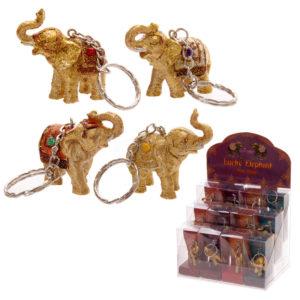 Lucky Elephant Key Ring - Assortment of 4Lucky Elephant Key Ring - Assortment of 4