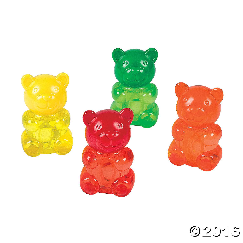 12 x Gummy Teddy Bubble Bottles