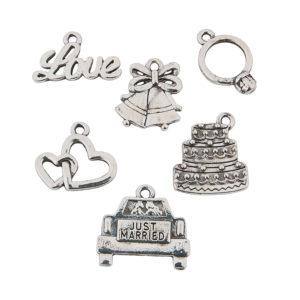 Silvertone Wedding CharmsSilvertone Wedding Charms