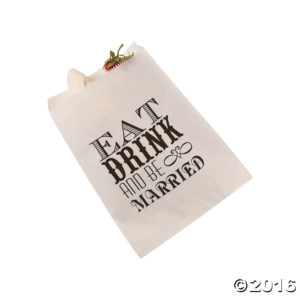 50 x Eat, Drink And Be Married Cake Bags50 x Eat, Drink And Be Married Cake Bags