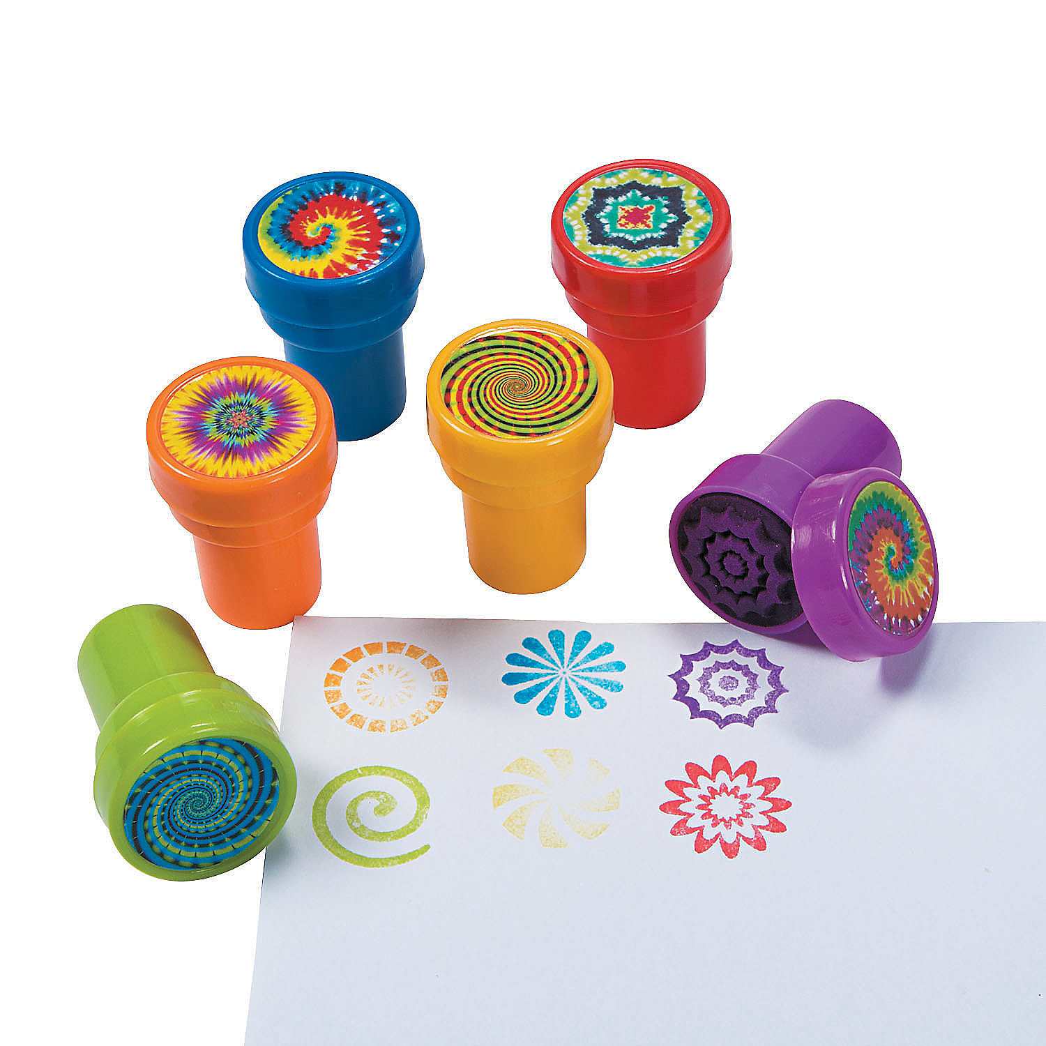 Pack of 6 Psychedelic Stampers