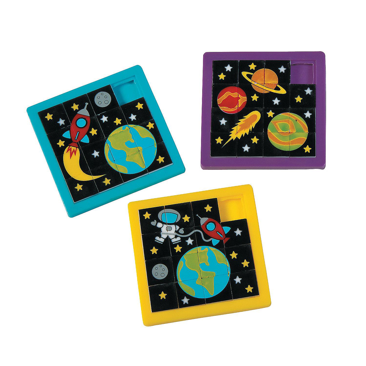 Pack of 12 Space Slide Puzzles