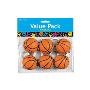 Pack of 6 Basketball Key chainsPack of 6 Basketball Key chains