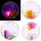 Fun Fish Design Flashing Rubber Bouncy Ball