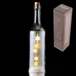 White Decorative Bottle with LED LightsWhite Decorative Bottle with LED Lights