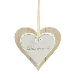 Vintage Double Heart Plaque BridesmaidVintage Double Heart Plaque Bridesmaid