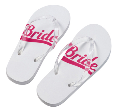 Bride Flip Flops Small