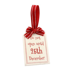 Do Not Open Until The 25th December Present TagDo Not Open Until The 25th December Present Tag