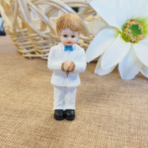 *CLEARANCE* Communion Boy Standing with rosary - Medium*CLEARANCE* Communion Boy Standing with rosary -Medium