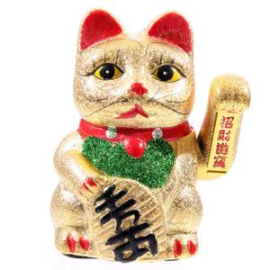 Decorative Waving Maneki Neko Ceramic Cat 17cm