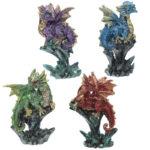 Rock Crystal Enchanted Nightmare Dragon Figurine