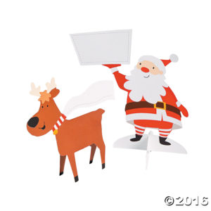 12 x Santa And Reindeer Christmas Place Cards12 x Santa And Reindeer Place Cards