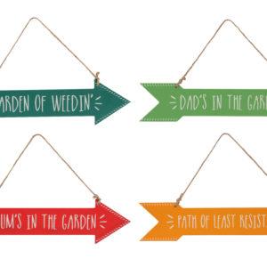 Assorted Hanging Garden Slogan ArrowsAssorted Hanging Slogan Arrows