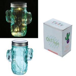 Cactus LED Light Jar