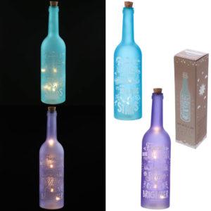 Decorative Matte LED Glass Bottle Light - Fun Slogans