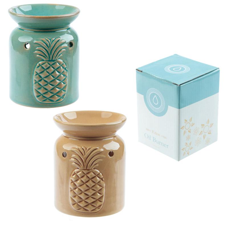 Eden Aroma Set – Ceramic Pineapple Oil Burner