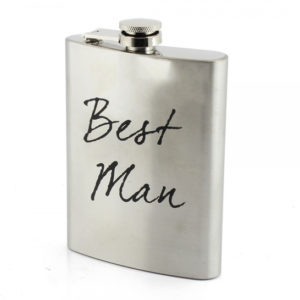 Stainless Steel Hip Flask Best Man Gift - WeddingStainless Steel Hip Flask Best Man