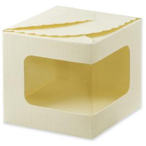 Ivory Silk Display Box (100x100x100mm)Ivory Silk Display Box