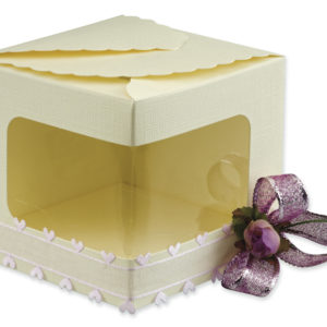 Ivory Silk Display Box (100x100x130mm)Ivory Silk Display Box