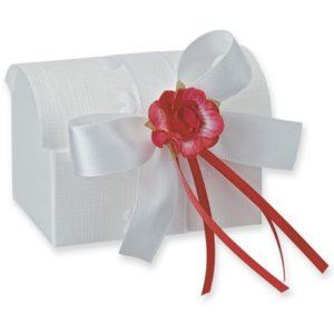 White Silk Chest Box 70x45x52mmWhite Silk Chest Box