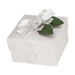 White Silk Square Box With Lid 100x100x60mmWhite Silk Square Box With Lid