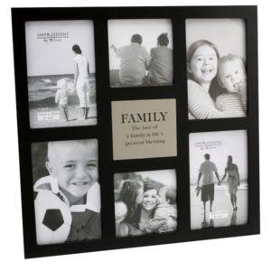 Impressions Multi Aperture Photo Frame 6 Pictures 'Family'Impressions MDF Multi Aperture Frame 6 Pictures Family