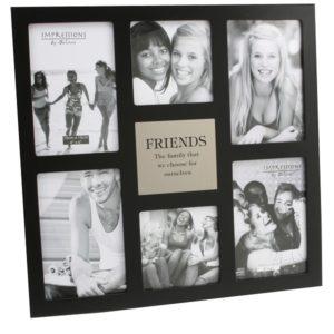 Impressions Multi Aperture Photo Frame 6 Pictures 'Friends'Impressions MDF Multi Aperture Frame 6 Pictures Friends