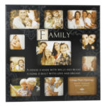 New View MDF Sentiment Stamp Wall Photo Frame 11 Pictures 'Family'New View MDF Sentiment Stamp Wall Photo Frame 11 Pictures Family