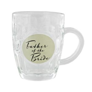 Amore Wedding Pint Glass Tankard Father of The BrideAmore By Juliana Glass Pint Tankard Father of The Bride