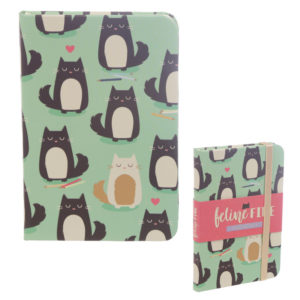Collectable Hardback Notebook - Feline Fine Cat Design