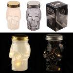Decorative Gothic Skull LED Light Jar