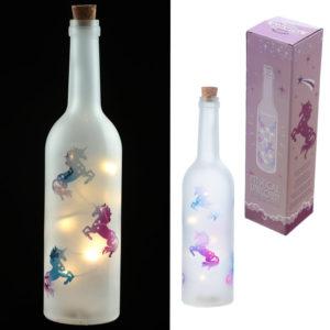 Decorative LED Glass Unicorn Bottle Light