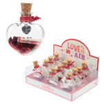 Glitter Heart Confetti Wishes Jar