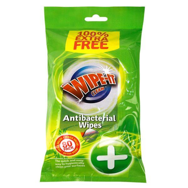 Antibacterial Wet Wipes – 80 Pack