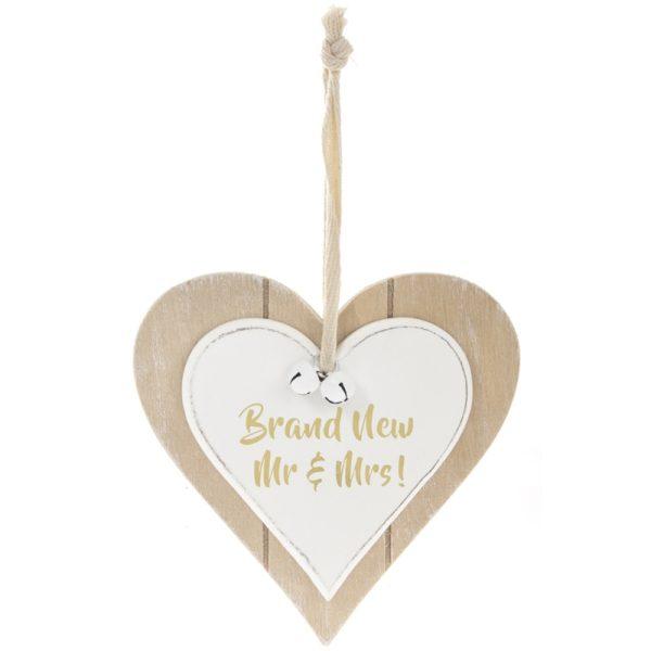 Twin Heart Brand New Mr & Mrs