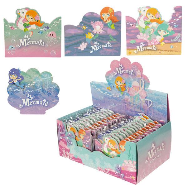 Cute Mini Memo Pad Pack of 4 – Mermaid Design