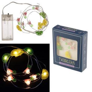 Decorative LED Light String - Cocktails, Lemon and Lime