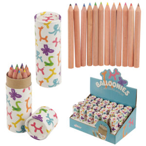 Fun Kids Colouring Pencil Tube - Balloon Animals