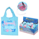 Handy Fold Up Mermaid Shopping Bag with Holder