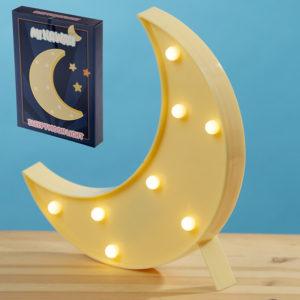 LED Light Decoration - Crescent Moon