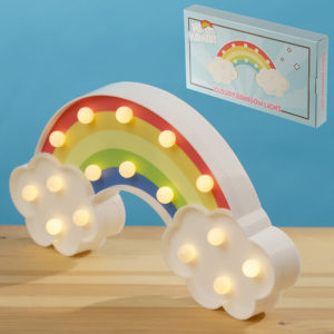 LED Light Decoration - Rainbow and Clouds