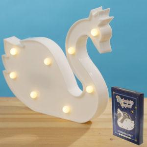 LED Light Decoration - White Swan