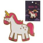 Cute Rainbow Unicorn Design Enamel Pin Badge
