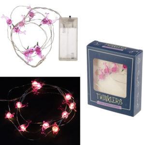 Decorative LED Light String - Pink Narwhal