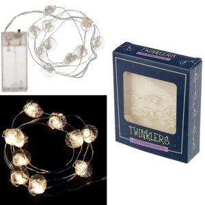 Decorative LED Light String - White Shells