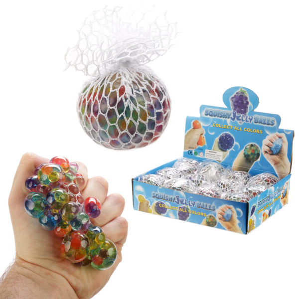 Fun Kids Squish Mesh Rainbow Ball
